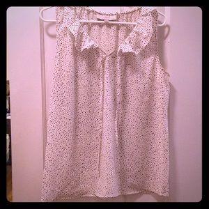🆕 Black and white polka dot shirt from Loft